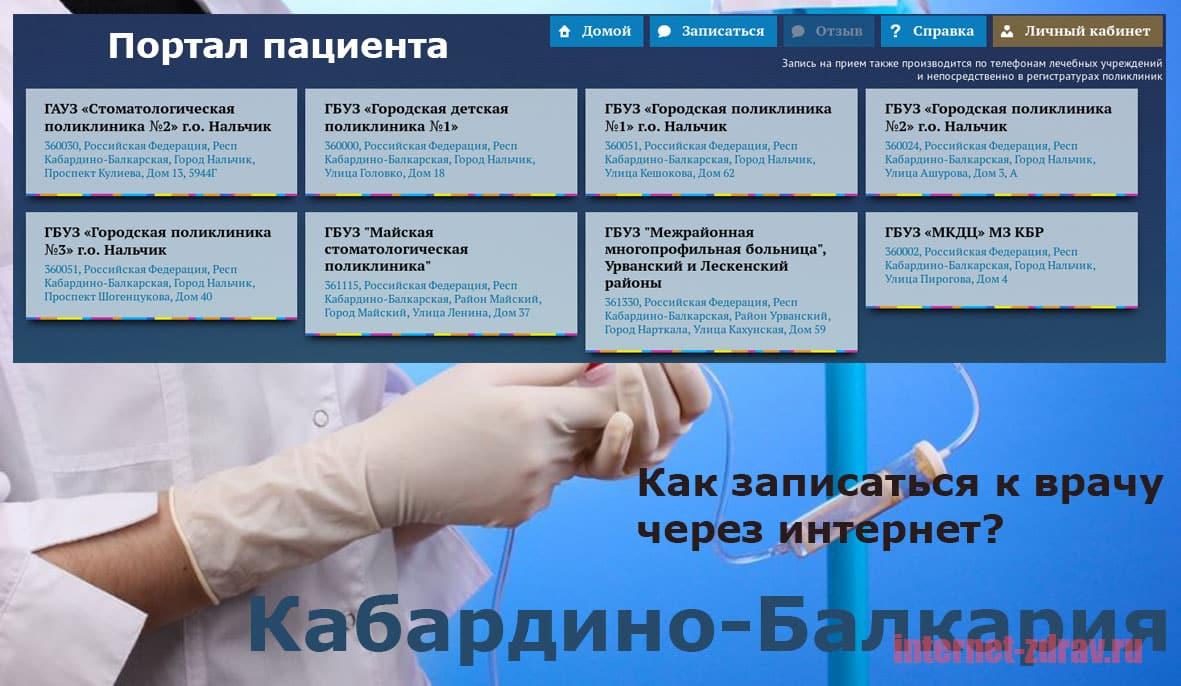 Республика Кабирдино-Балкария - как записаться на прием к врачу