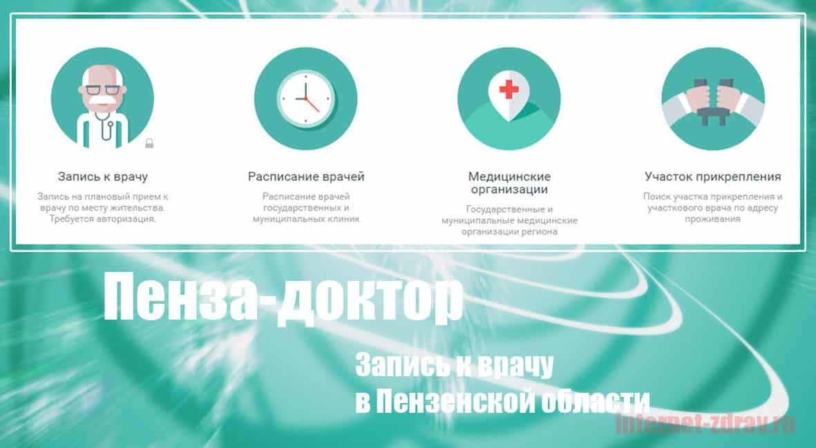 Пензенская область - как записаться на прием к врачу