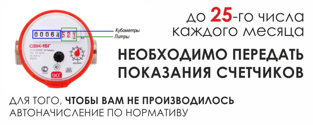 ВЦКП СПб - сроки передачи показаний
