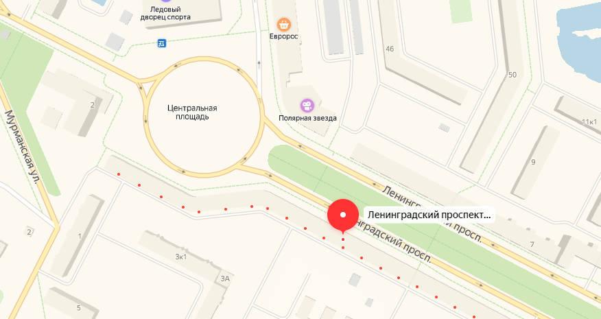 оленегорск - карта
